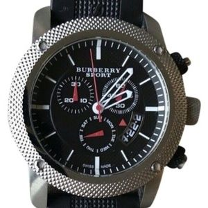 BURBERRY Brit Black Sports watch Unisex BU7700